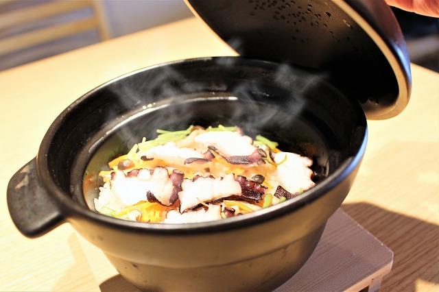 タコの土鍋ご飯